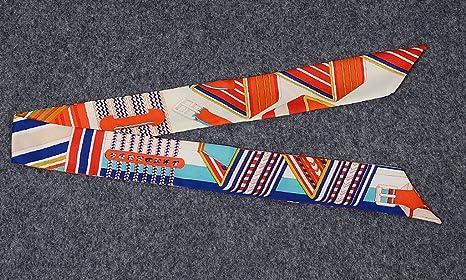 COMVIP Echarpe Ruban Décoration Sac à Main Femme Imitation Soie Foulard  Bandeau Zèbre Mode Orange  Amazon.fr  Jeux et Jouets c8551c31350