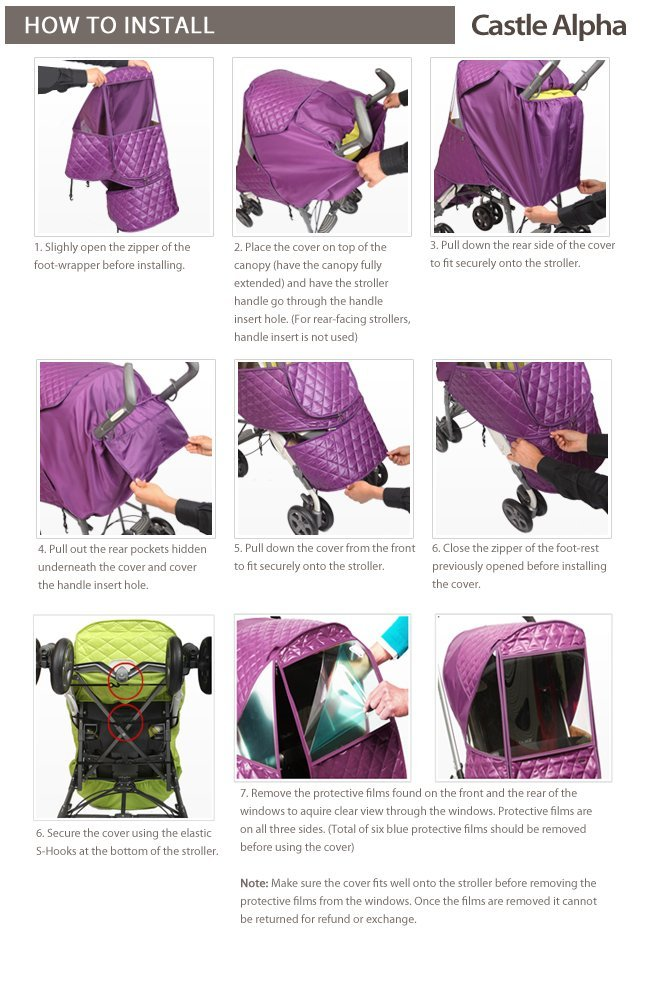 Manito Castle Alpha Stroller Weather Shield (Chocolate) by Manito (Image #6)