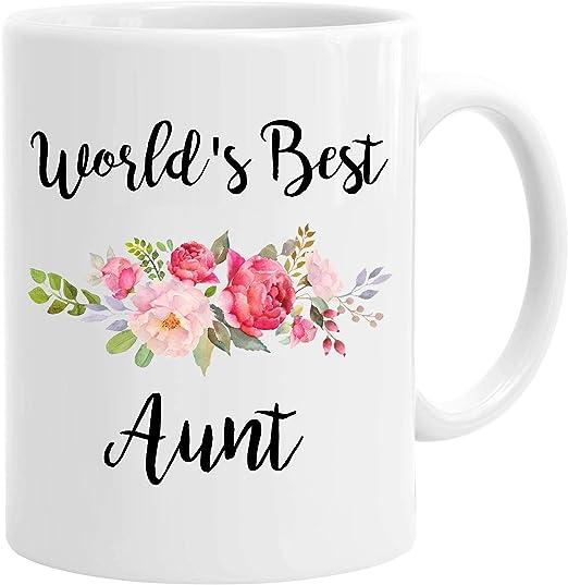 The World/'s Greatest Aunt 11-Ounce Ceramic Coffee Mug White