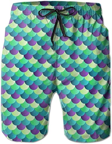 XUJ YOGA Men Board Shorts Breathable Quick Dry Holiday Party Surfing Swim Trunks