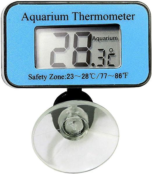 Dual Temperature LCD Display Fish Tank Aquarium Water /& Indoor Thermometer ℃// ℉