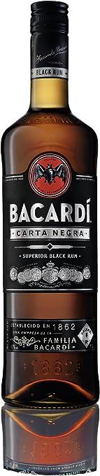 Bacardi Bacardi Carta Negra 40º - 1000 ml: Amazon.es ...