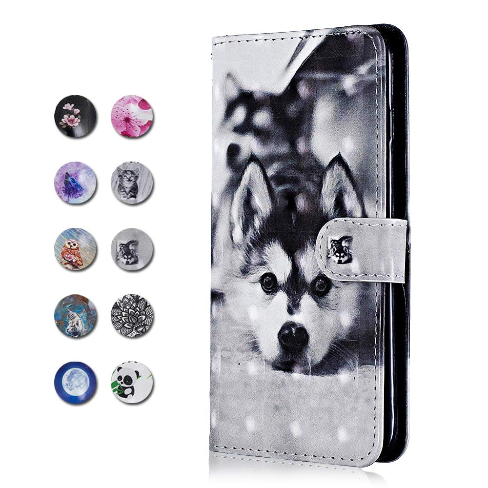 Panda Galaxy A50 Case Wrist Strap Magnetic Closure for Samsung Galaxy A50 CAXPRO PU Leather Full Body Protective Cover Case with Credit Card Holders