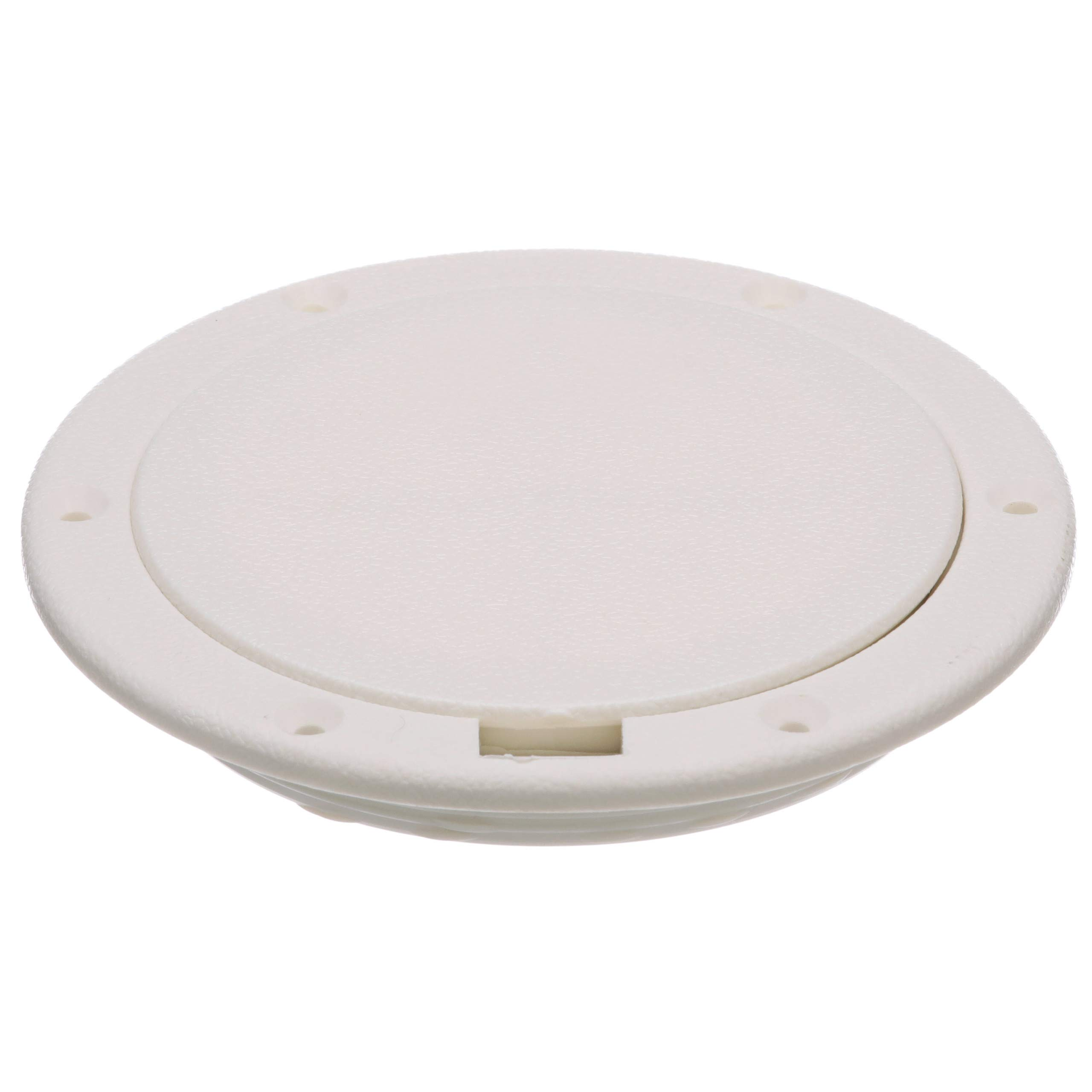 Seachoice 39581 Pry-Up Deck Plate - White - Watertight - Up to 10-5/8 Inch Diameter Hole by SEACHOICE