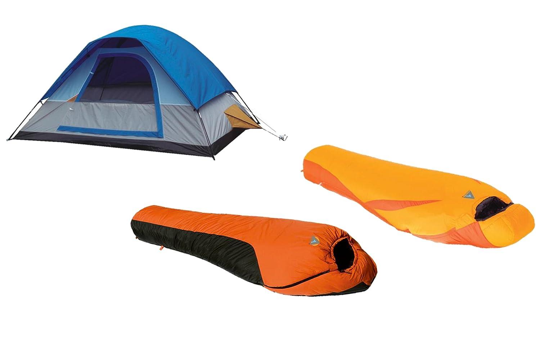 High Peak EE. UU. alpinizmo Ultra Lite 20 F + 0 F a prueba de agua saco de dormir y 5 hombres tienda Combo, un tamaño, azul/naranja: Amazon.es: Deportes y ...