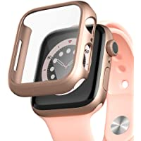 pzoz Compatible for Apple Watch Series 6/5 /4 /SE 44mm Case with Screen Protector Accessories Slim Guard Thin Bumper…