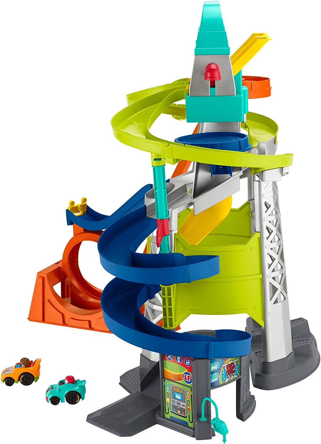 Fisher-Price Little People Launch and Loop Raceway, vehicle playset for toddlers and preschool kids: Toys & Games