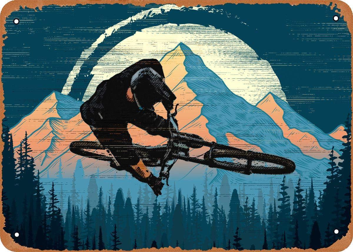 Fanzi Vintage Look Metal Sign - Mountain Bike Trick - 8