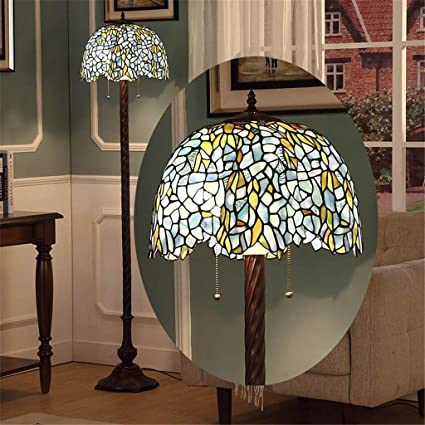 Echo Times Lámpara de pie Tiffany de 16 Pulgadas Lámpara de ...