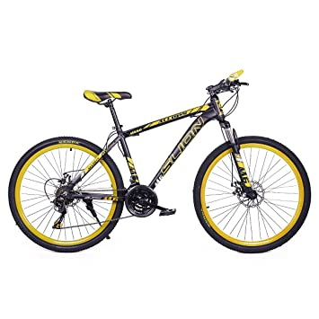 Riscko Bicicleta Mountain Bike de Aluminio Modelo Safari con Ruedas de 26 Color Amarillo