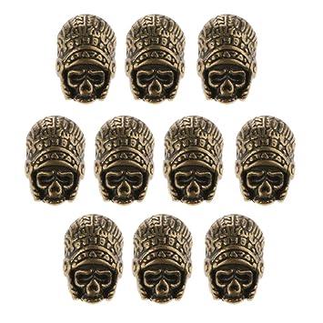 homyl 10 pieza Faraón Máscara pulsera conector Encanto perlas, color Btonze