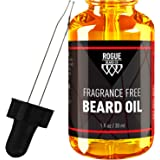 BEARD OIL FRAGRANCE FREE by Rogue Beard Company 100% ORGANIC Beard Oil and Leave-in Conditioner