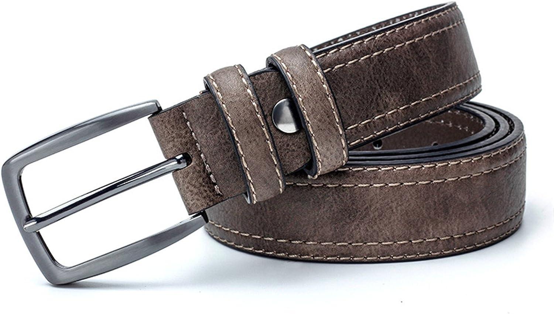 KEBINAI Mens Belts Luxury Leather Belt Men Famous Belt For Man Designer Belts With Vintage Style For Jeans 3.5 Cm Wide
