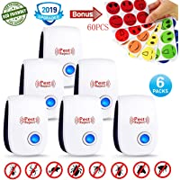 Ultrasonic Pest Repeller - 2019 Electronic Indoor Plug In Pest Control Unit for Mosquitoes,Fly's,Ants,Rats,Mice,Spiders,Cockroaches,Insects - 100% Safe & Easy to Use - Family & Pet Friendly - No Chemicals, Baits or Traps