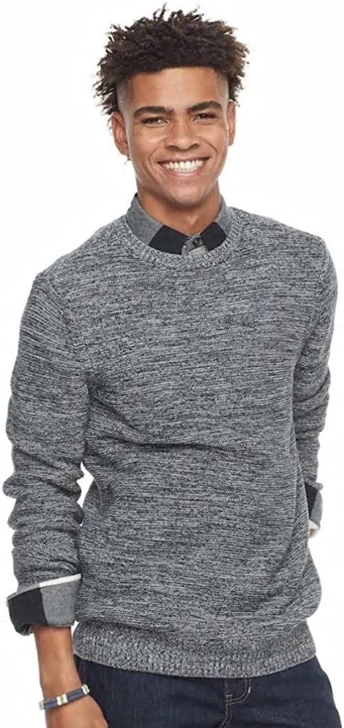 Men/'s Urban Pipeline Space-Dyed Crew Sweater Night Blue