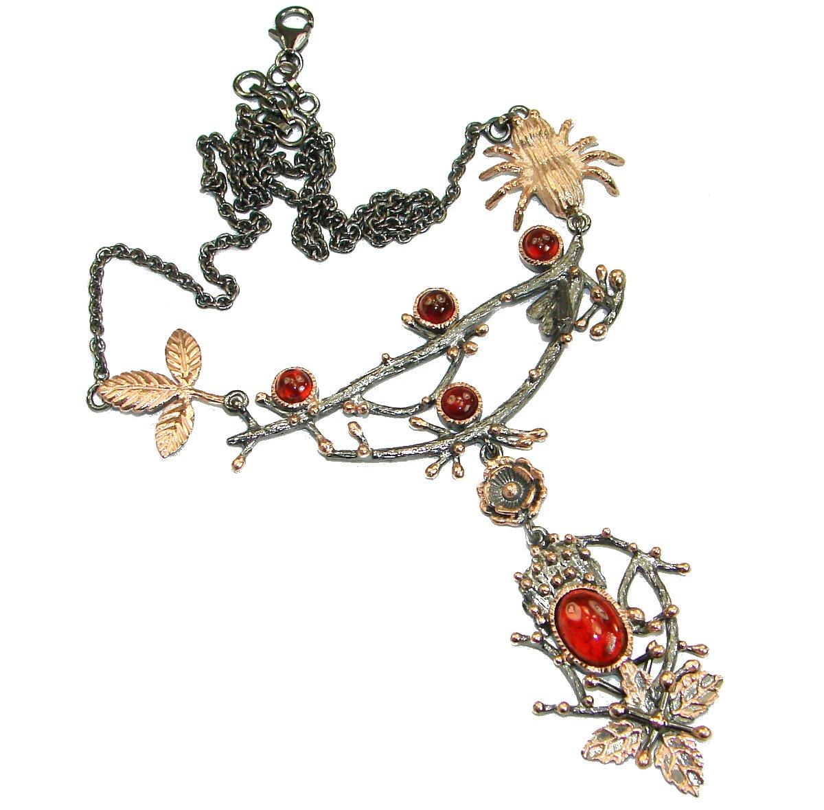 Garnet Women 925 Sterling Silver Necklace - FREE GIFT BOX