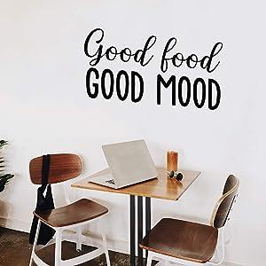 Vinyl Wall Art Decal - Good Food Good Mood - 17