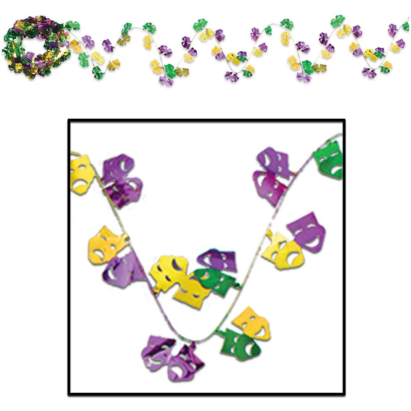 Amazon.com: 25\' Mardi Gras Garland: Toys & Games