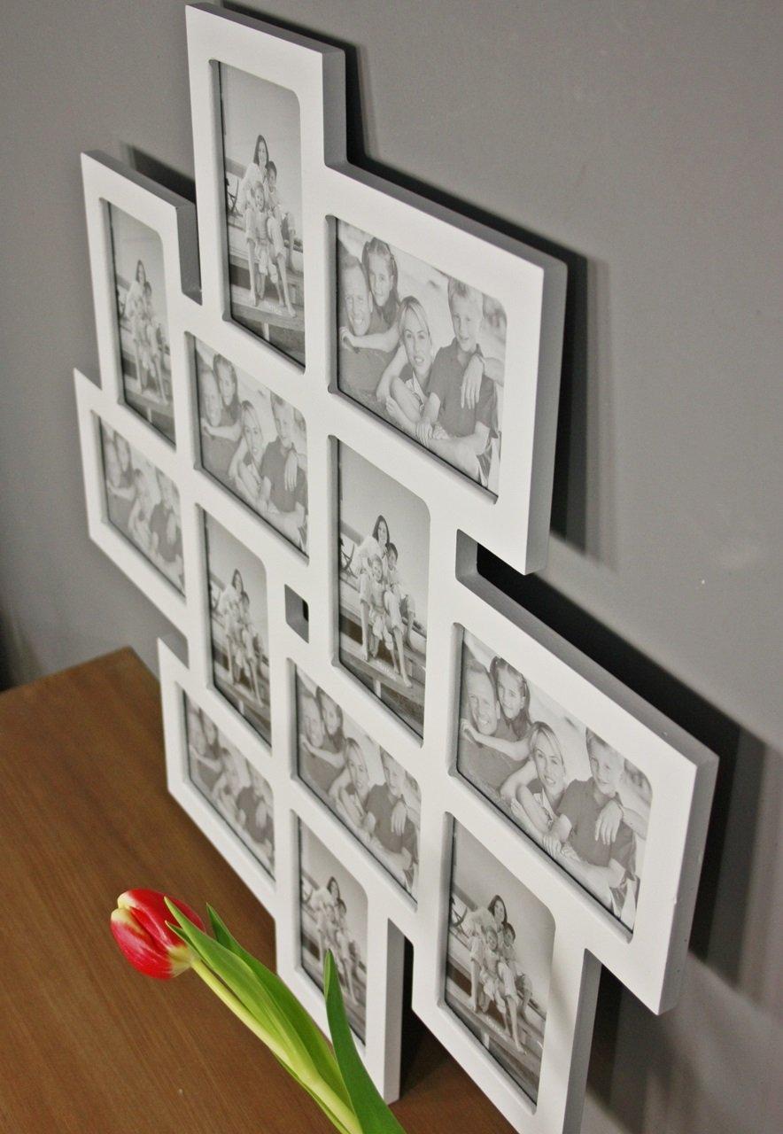 elbmöbel Bilderrahmen Collage Holzrahmen in weiß, schwarz-weiß ...