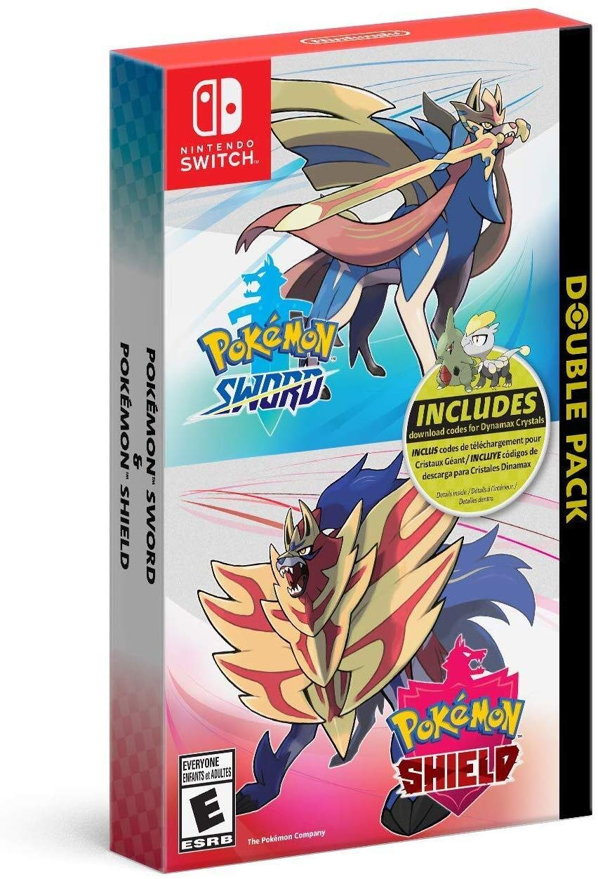 Pokémon Sword and Pokemon Shield Double Pack for Nintendo Switch ...