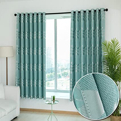 XiaojingLY Blackout Curtains Drape Thicken Curtain Living Room Bedroom Balcony Plane Window Short Readymade