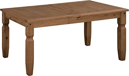 Table extensible 160 x 90 cm DINING TABLE Old Wood Vintage