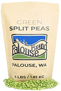 Non-GMO Project Verified Green Split Peas | 100% Non-Irradiated | Certified Kosher Parve | USA Grown |Identity Preserved (We tell you which field we grew it in) (4 lb Kraft Bag)