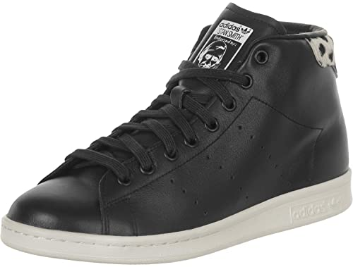 Adidas Stan Smith Mid Shoes, Black, 3.5 UK