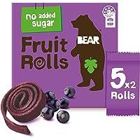 BEAR Real Fruit Rolls - Blackcurrant - Natural Fruit Snack - No Added Sugar - Gluten Free Snack - Vegan Fruit Snack…