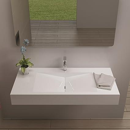 ADM Bathroom Design Glossy White Stone Resin Sink DW-114, Pedestal on apt bathroom design, ada bathroom design, cat bathroom design, man bathroom design, apa bathroom design,