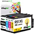 Kingjet Compatible Ink Cartridge Replacement for HP 950 951 950XL 951XL Work with Officejet Pro 8100 8600 8610 8620 Printers,