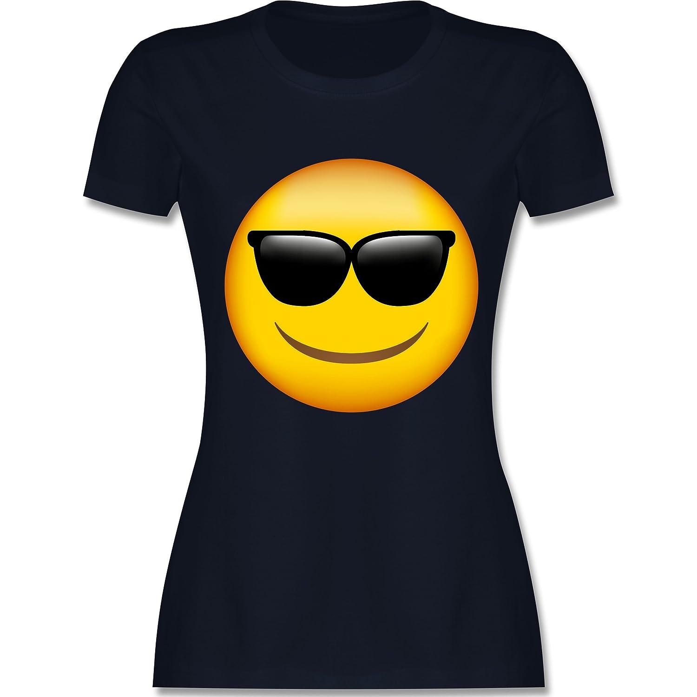 Comic Shirts - Emoji Sonnenbrille - Damen T-Shirt Rundhals: Shirtracer:  Amazon.de: Bekleidung