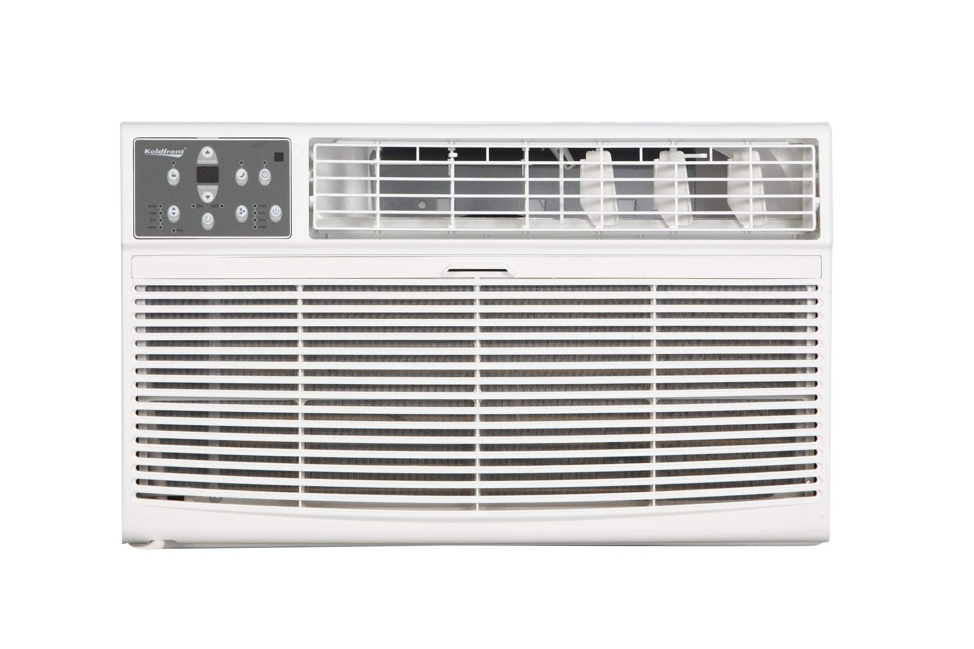Koldfront WTC14001W 14000 BTU 208/230V Through The Wall Air Conditioner with 10600 BTU Heater with Remote by Koldfront