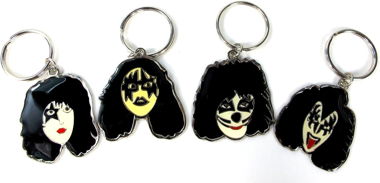 Kiss Set Of 4 Keychain Keyring Gene Simmons Metal NEW