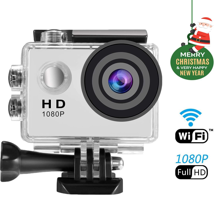 Action Cam 4K SENDOW Action Kamera Wifi Sport Kamera mit Fernbedienung, Motorrad Kamera Helmkameras Wasserdicht 170 Grad Weitwinkel und Kompletter Zubehö r Kits Sendowtek
