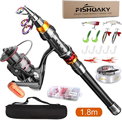 Fishing Rod Carbon Retractable Telescopic Pole Portable Hard Stretch Tackle Tool