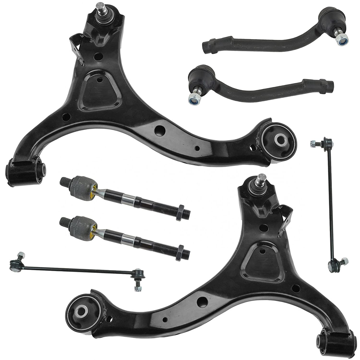 Upper Control Arms Lower Ball Joints and Tie Rods for Kia Sorento 2003-2006