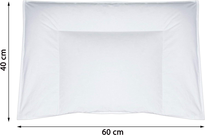 90/% piumette 10/% piume d/'oca 35x40 cm bianco Zollner Cuscino per neonati