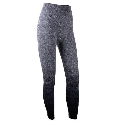 EUFANCE Femmes Fluorescente Couleur Leggings de Sport Jogging Running  Randonnée Danse Fitness Pantalon Collants Survêtements Yoga be97c55443f