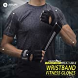 SIMARI Workout Gloves for Women Men,Training Gloves for Fitness Exercise Weight Lifting Gym Crossfit,Made of Microfiber SG-912 Black