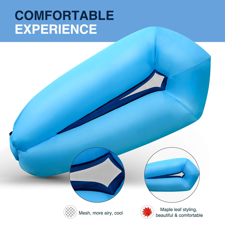 Randonn/ée,Bassin et Parties de Plage Hamac Gonflable,Sofa Gonflable avec Le Paquet portatif pour en voyageant,Camping