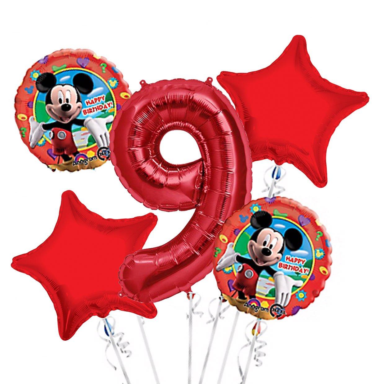 ミッキーマウスバルーンブーケ9日誕生日5個 – パーティーSupplies   B01LWBGE4B