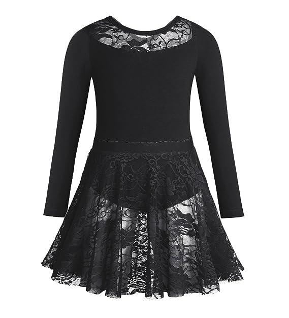 445900fd6 Amazon.com  Freebily Girls Long Sleeves Leotard Ballet Dance ...