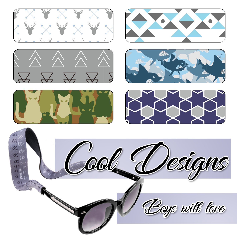 Ava & Kings 6pc Kids Neoprene Glasses Holder Neck Strap Sports Retainer - Boys by Ava & Kings (Image #5)