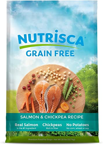 NUTRISCA Dry Dog Food Bag, Grain Free High Protein, Balanced Nutrition for All Life Stages Breed