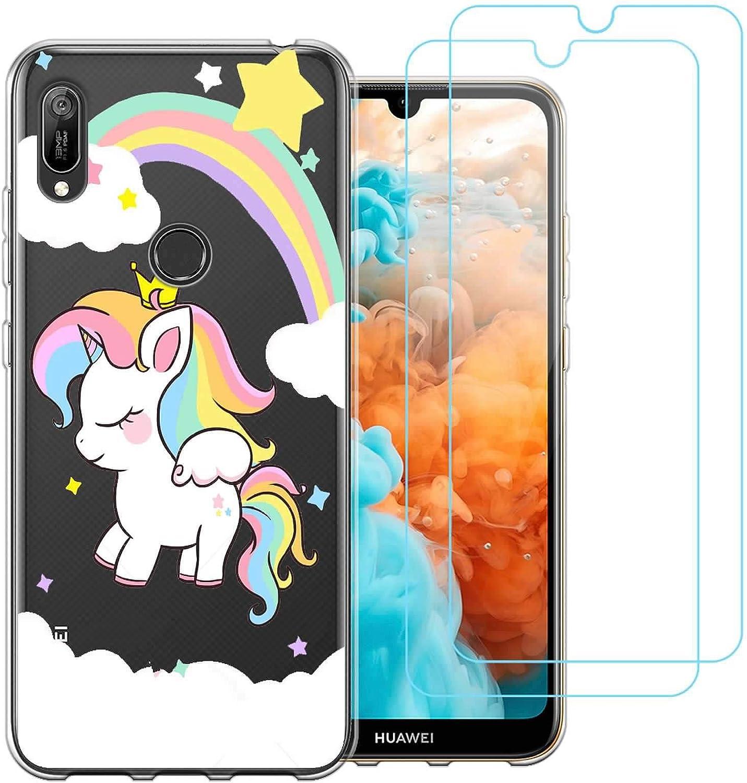 Cover Huawei Y6 2019,Corona Unicorno Premium Morbida Silicone ...