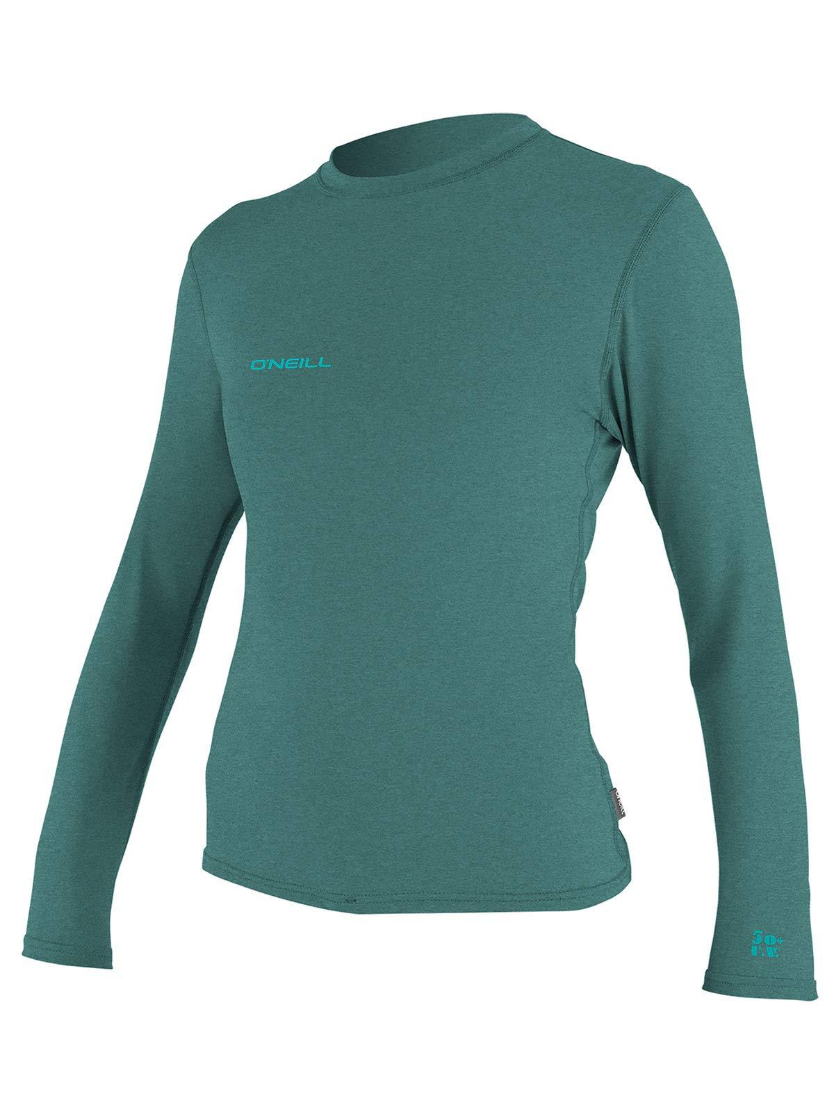 O'Neill Wetsuits Women's Hybrid UPF 50+ Long Sleeve Sun Shirt, Eucalyptus, X-Small