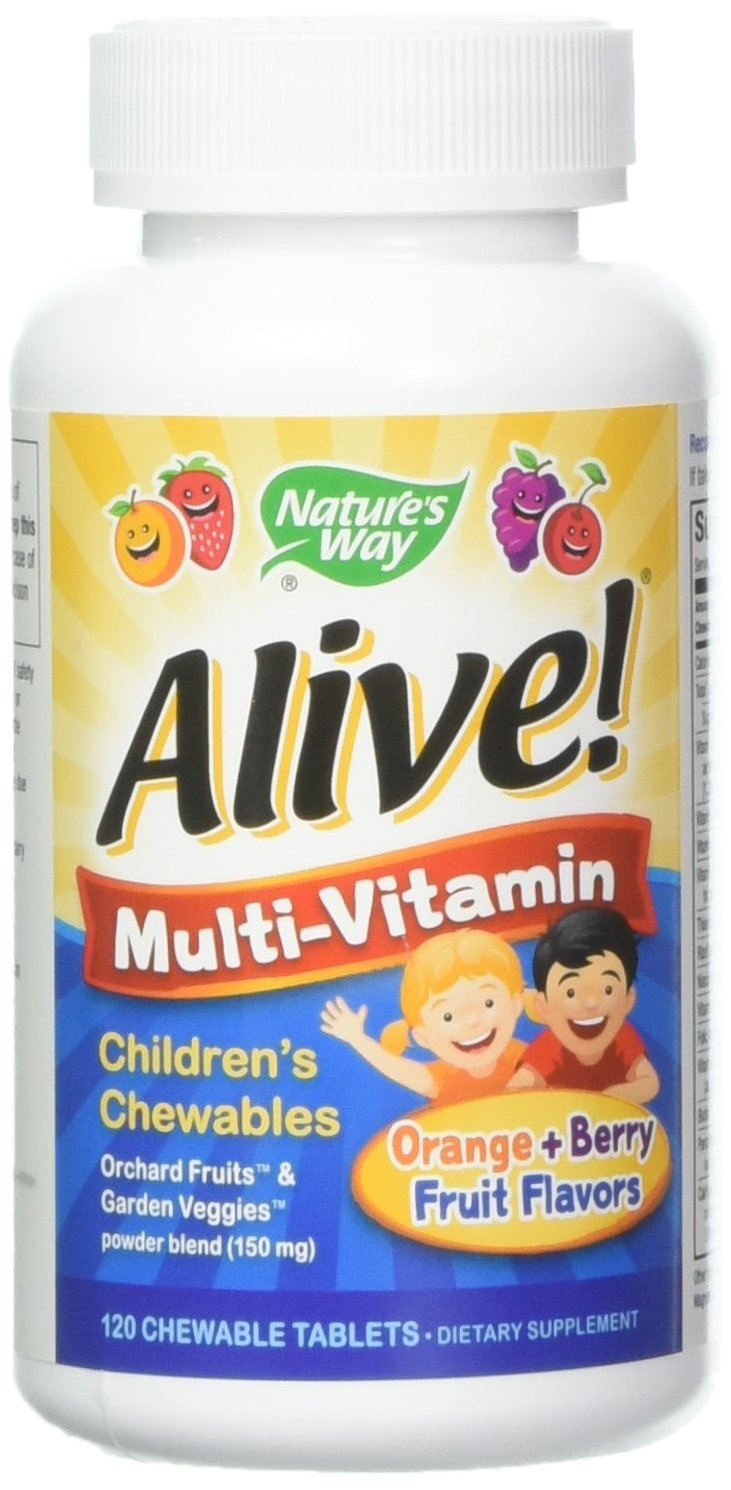 Alive Children s Multi-Vitamin Chewable – 120 Chewable Tablets by Nature s Way