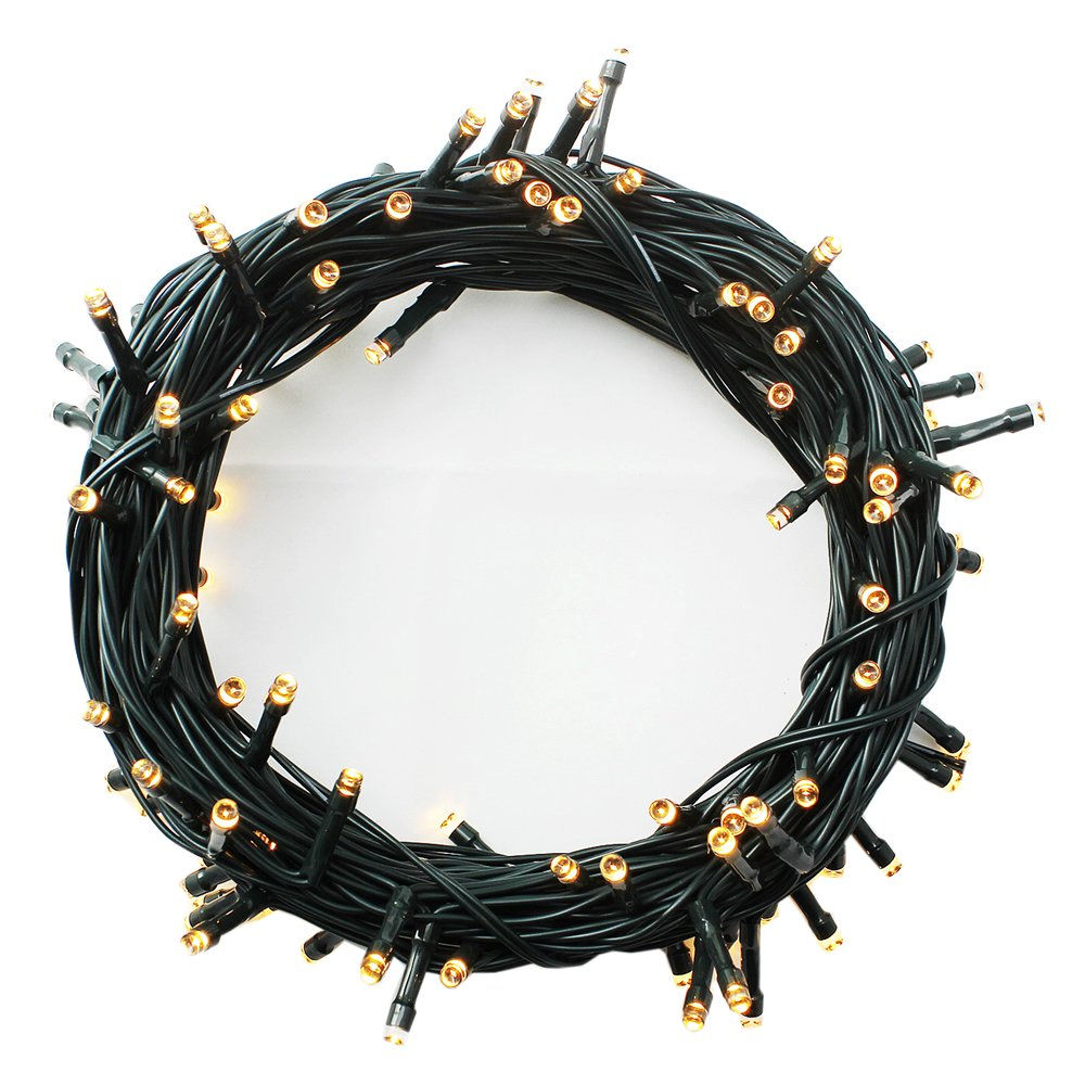 100-1000 LED String Fairy Lights On Dark Green Cable with 8 Light Effects, Ideal for Christmas Tree, Xmas, Party,Wedding,ETC (Warm,400 LEDs)