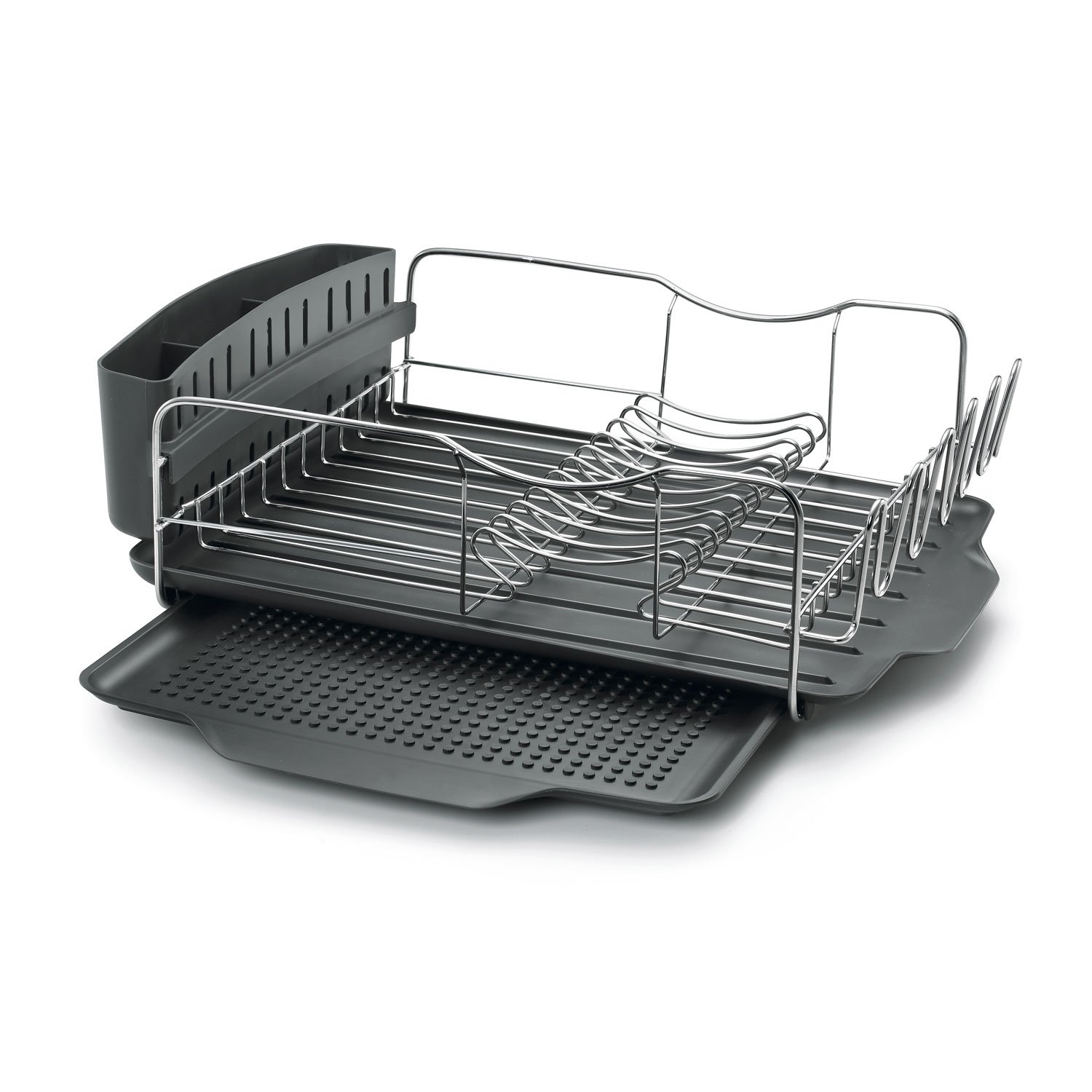 Polder Dish Rack U0026 Tray 4 PC Combou2013 Advantage System Includes Rack, Drain  Tray, Removable Drying Tray U0026 Cutlery Holder U2013 Stainless Steel U0026 Plastic